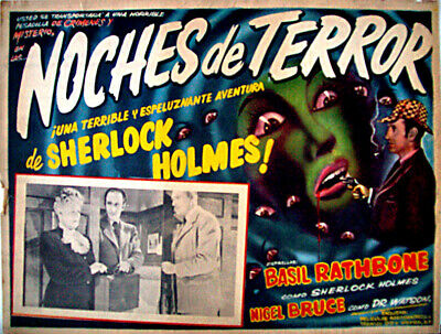 ALL DETECTIVES & SPIES /Terror by Night/BASIL RATHBONE/1946/MEXICAN LOBBY CARD/R