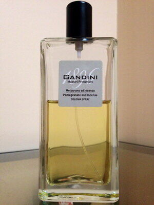 GANDINI 1896 POMEGRANATE AND INCENSE - 100 ML (60 ml left) COLOGNE SPRAY unboxed