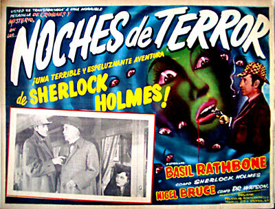 ALL DETECTIVES & SPIES/Terror by Night/BASIL RATHBONE/1946/MEXICAN LOBBY CARD/R
