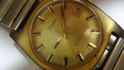 Timor Men's Gold Plated Mechanical Watch - Running, with Date