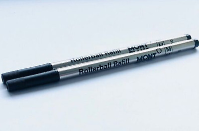 TWO Montblanc Rollerball Refills Medium Black - IMPROVED INK QUALITY