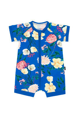 Bonds Baby Short Sleeve Zip Wondersuit Romper sizes 0000 2 3 Floral Print