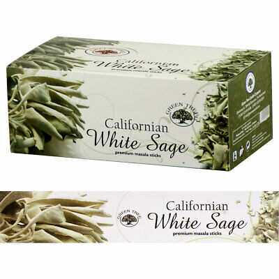 Californian White Sage Premium Masala Incense Sticks by Green Tree (Retail Box)