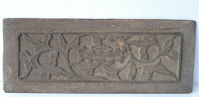 Asian Art Wood Relief Picture Hand Carved China around 1850 - 1900 Al1305
