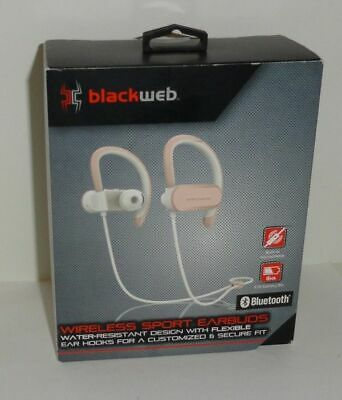 cfd09df4480 BlackWeb Wireless BlueTooth Sport EarBuds Build-in Microphone Rose Gold