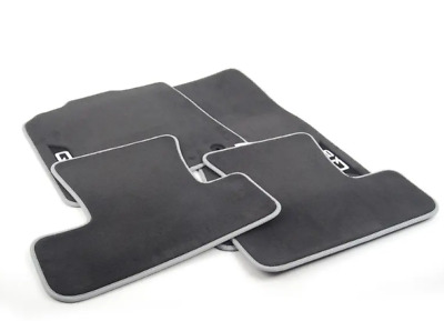 New Genuine AUDI Q5 Carpeted Floor Mats Set Of Four Black/Silver 8R1061270MNO