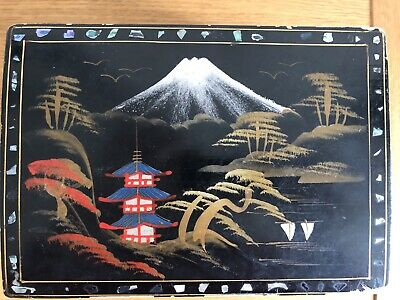 Vintage Japanese Lacquer Musical Jewellery Box