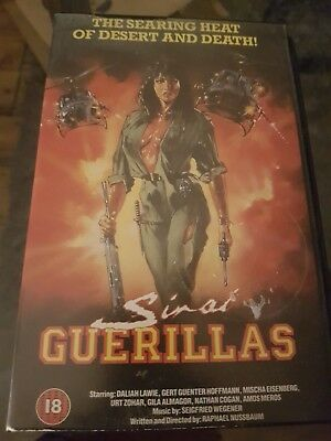 Sinai Guerillas   Uk Vhs Pal Cassette   Rare Big Box Version Gert Gunter