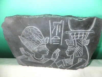 Beautiful Fragment Of Ancient Egyptian Wall Relief (Repro).