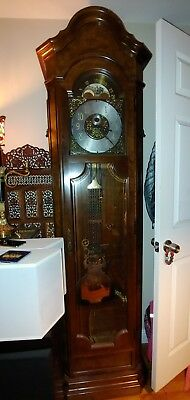 SOLID WOOD LARGE Grandfather Clock Antique Floor Standing Classic