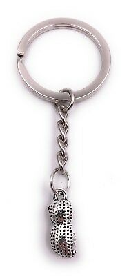 Peanut Peanut Nut Key Ring Pendant Silver Made of Metal