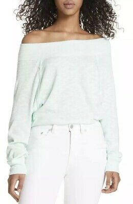 787abb1318520 Free People Palisades Off The Shoulder Top Seafog S  68 Ladies Size Small