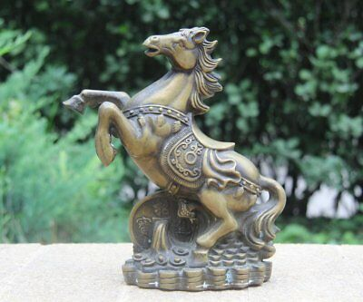"3.6/"" Chinese Bronze Fengshui 12 Zodiac Year Pig Coin Money Wealth Lucky Statue"