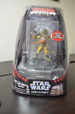 Star Wars BOSSK Titanium Die-cast action figure NEW Micro Machines Bounty Hunter