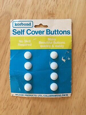 Korbond Self Cover Buttons 11mm Vintage Clothing Sewing