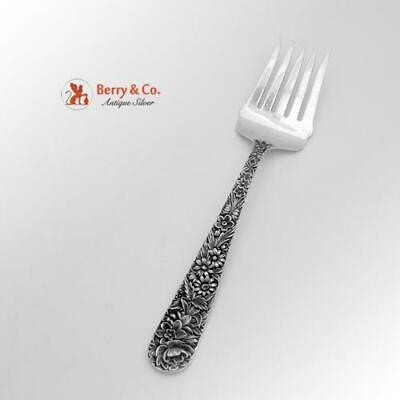 Repousse Cold Meat Or Salad Serving Fork Sterling Silver S Kirk Son