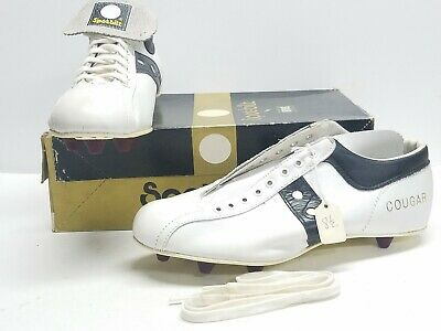b42f5ee38ca4 Vintage Spot Bilt Leather Football/Baseball Shoes Cleats Low Top NOS Box Sz  8.5