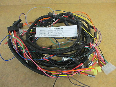 farmall 756 diesel - 4 wiring harnesses included - front, rear, lh & rh