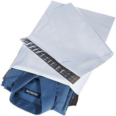 100 MIXED Sizes Strong Postage Mailing Bags White Poly Parcel Postal Bags