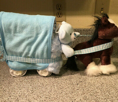 Boy Baby Shower Gift Horse and Buggy Diaper Cake