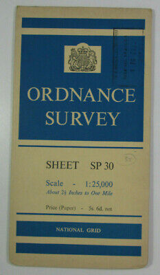 1960 Old Vintage OS Ordnance Survey 1:25000 First Series Map SP 30 Witney (S)