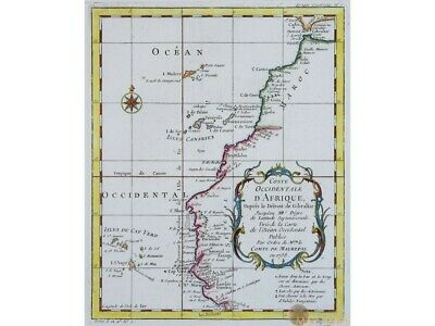 D'Afrique Canary Islands Cape Verde Old map Bellin 1738