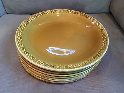 Connemara Celtic Irish Fine Earthenware (8) Dinner Plates Vintage Gold