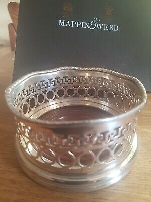HAND MADE SILVER OR PLATED ? WINE BOTTLE COASTER,  Mappin & Webb