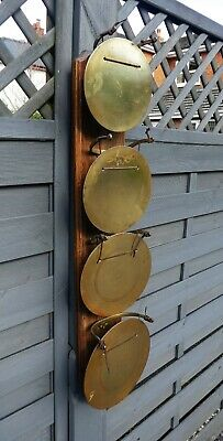 Antique wall 4 disc musical gong Westminster Cambridge Chime M & S B PAT. 34572