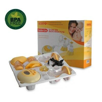 Powerful Performance~KINYO~*DOUBLE ELECTRIC BREAST FEEDING PUMP*~With Free Pads!