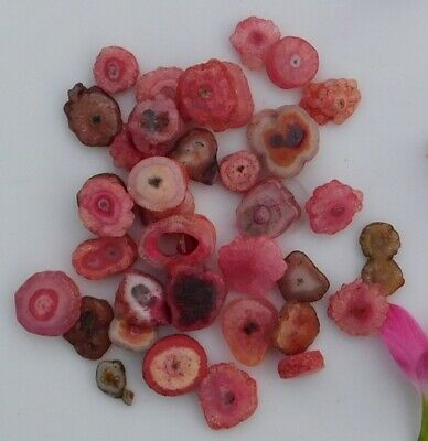 100 Cts. Dyed Natural Pink Rose Baby Solar Druzy Agate Mix Lot Gemstone Ll4547