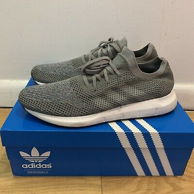 925ea7dd0 Adidas Mens Sz 12 Originals Swift Run Primeknit Grey White Running Shoe  CG4128
