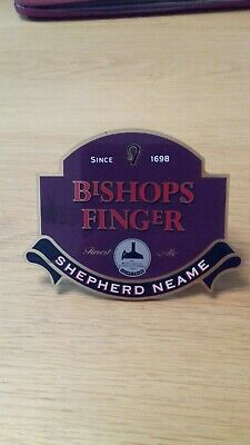 An old style Shepherd Neame Brewery Beer Pump Clip.