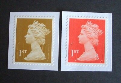40  1St Class  Red & Gold  Stamps - Unfranked - On  Paper -  F/v £28.00