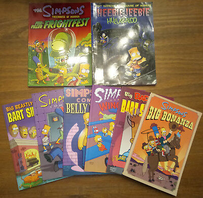 The Simpsons/ Bart Simpson/Treehouse of Horror Comics - Paperbacks Collection x8