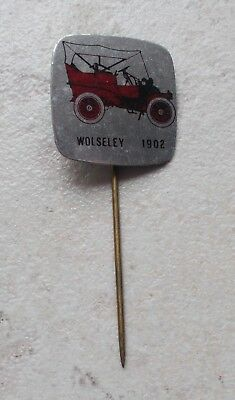Badge Vintage Pins Auto Automobile WOLSELEY UK ancien 1960s modèle 1902