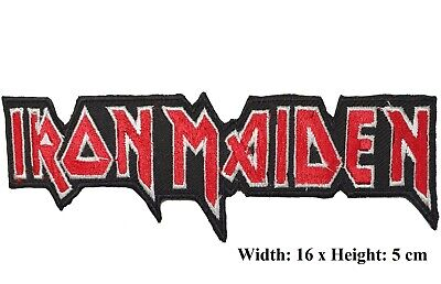Iron Maiden Rock Punk Music Band Logo Embroidered Iron on sew on patch #578