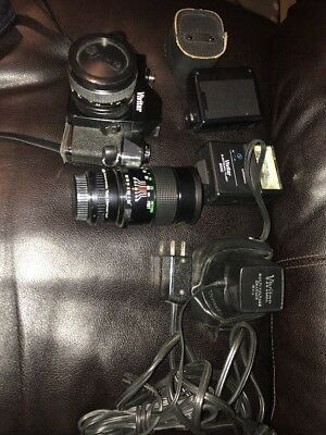 Vivitar 250/SL 35mm SLR Film Camera M42 Mount + 50mm F1.8 Lens Lot