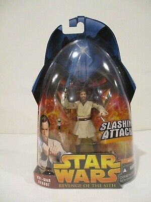 Hasbro Star Wars ROTS Obi-Wan Kenobi Slashing Attack 1 New 2005