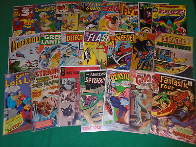 30 Comic Lot Silver Bronze 80's Modern Tpb Marvel Dc Alt X-Men Poster Chase Card