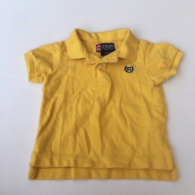 BOYS Chaps Ralph Lauren Yellow Collared T-Shirt SIZE 12M