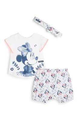 Primark Baby Girls Disney 3 Piece Minnie Mouse Set Bnwt All Ages