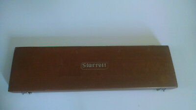 Starrett 122M 0-300MM vernier caliper in fitted wood case .02mm grad