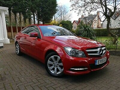 2015 15 Mercedes Benz C220 Cdi Executive Se Coupe Diesel Sport No Reserve Red