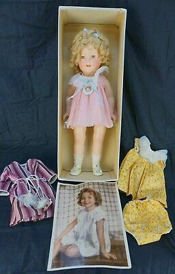 Vintage Ideal Shirley Temple Composition Doll with Original Box