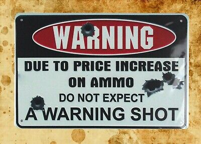 US Seller- garage man cave  do not expect warning shot tin metal sign