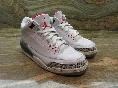 timeless design 77746 bd4a7 2003 NIKE AIR Jordan 3 III Retro SZ 9 White Cement OG 88 NRG JTH Dunk  136064-102