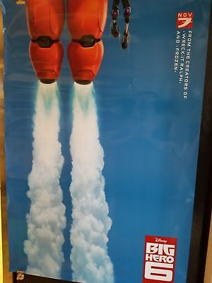 Disney Big Hero 6 Original Teaser Movie Poster 27 X 40