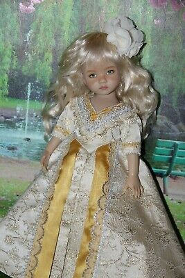 "Outfit FOR Dianna Effner 13"" Little Darling Dolls=Gold Princess Gown -Dress"