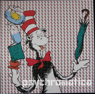 Bicycle day SALE!! ||  LSD BLOTTER ART  ||  The Cat in the Hat  ||  Heavyweight